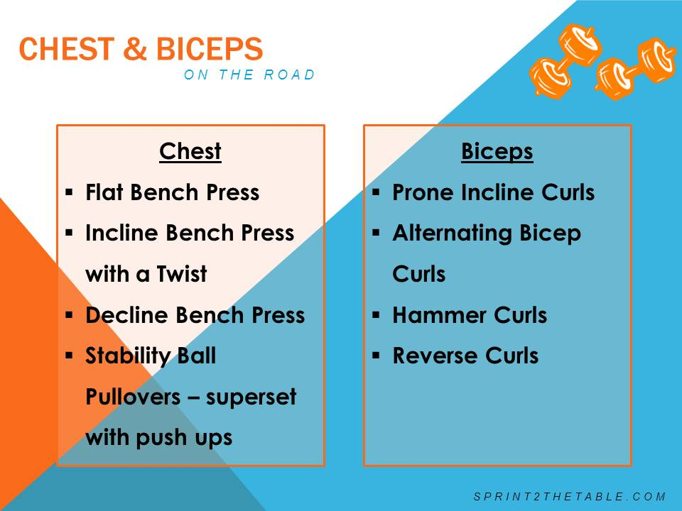 workout chest and biceps