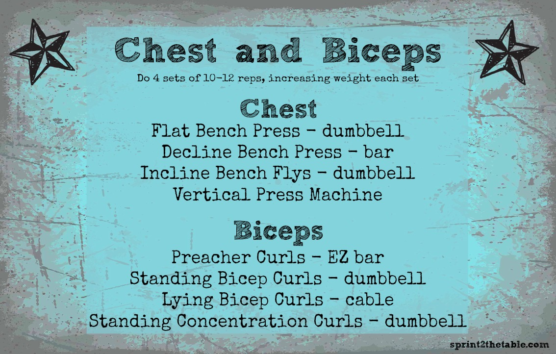 Work It Out: Chest and Biceps