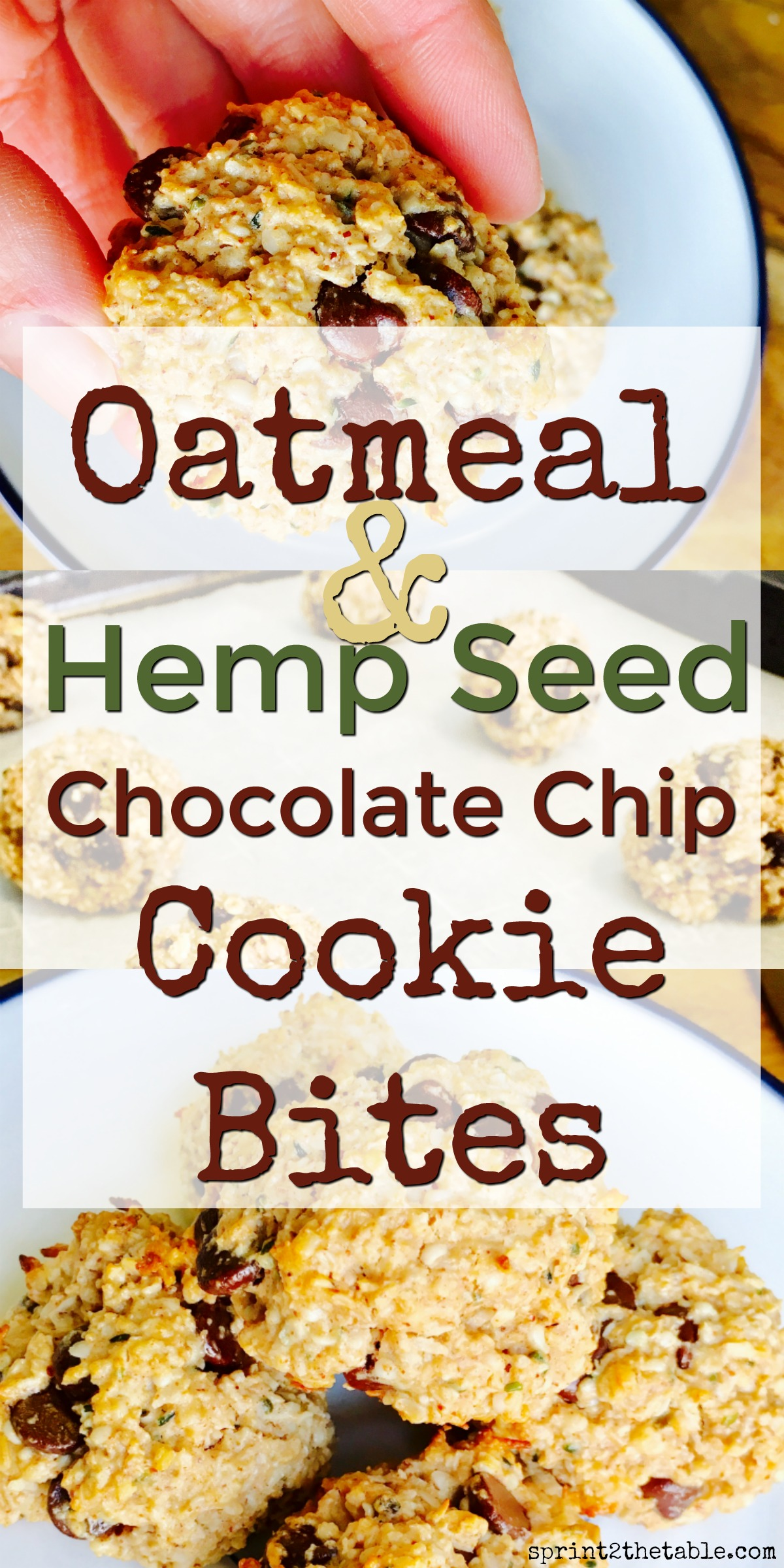 Oatmeal Hemp Seed Chocolate Chip Cookie Bites Sprint 2 The Table