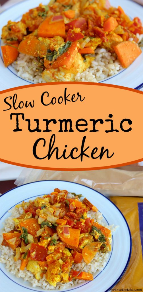 Slow cooker turmeric chicken sprint 2 the table this delicious healthy budget friendly one pot meal is one of forumfinder Gallery