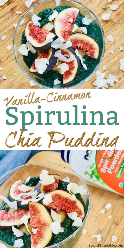 This colorful Vanilla-Cinnamon Spirulina Chia Pudding is a quick and easy breakfast recipe. It's packed with nutrients, but don't worry - it's still delicious.