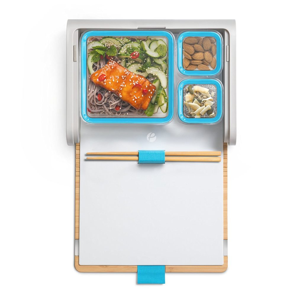 Lunchbox with Modular Food Storage Containers and Chopsticks Set