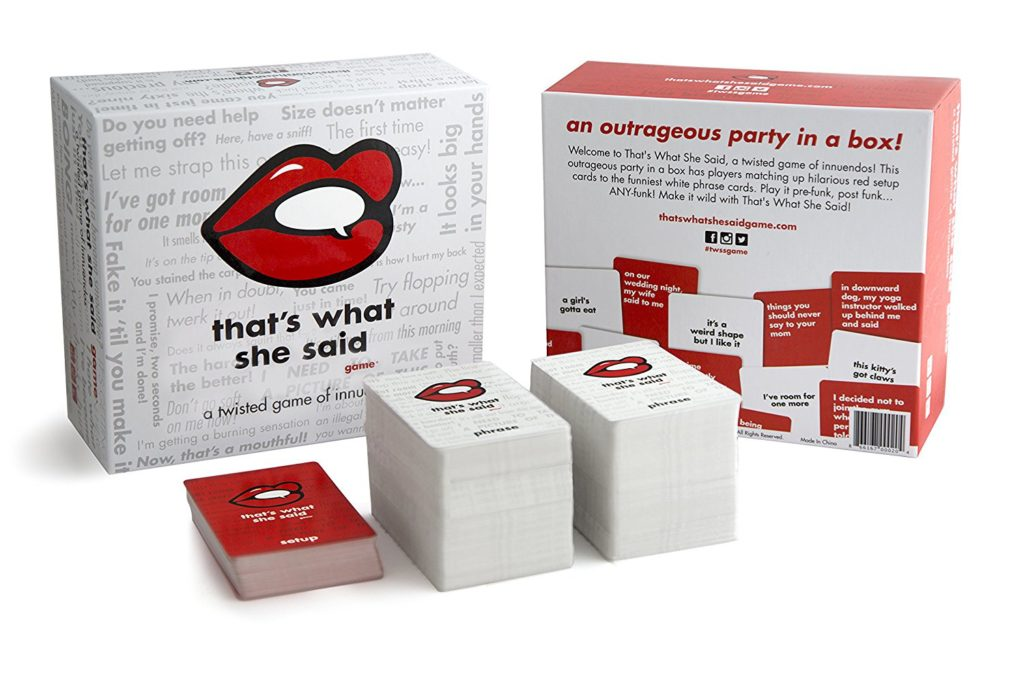 That's What She Said party game