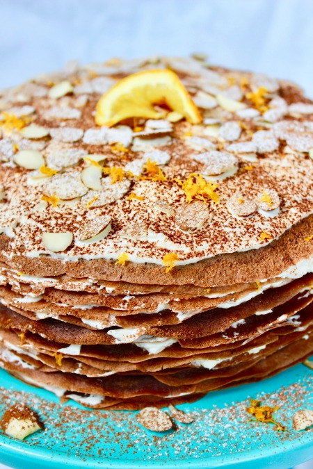 Don't be intimidated by this Chocolate Grand Marnier Crêpe Cake - crêpes are easier than you think and well-worth the effort.