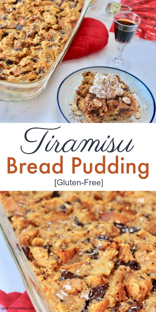 This Tiramisu Bread Pudding (gluten-free!) is the perfect after-dinner dish for a crowd.  It's a simple-yet-rich dessert reminiscent of it's more complicated tiramisu sibling. It's one of those recipes you'll to come back to again and again.