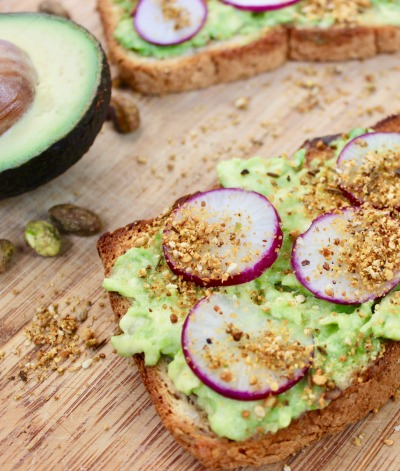 Avocado Toast with Radish & Dukkah